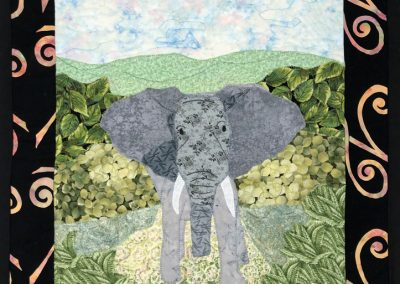 Fabric picture of elephant