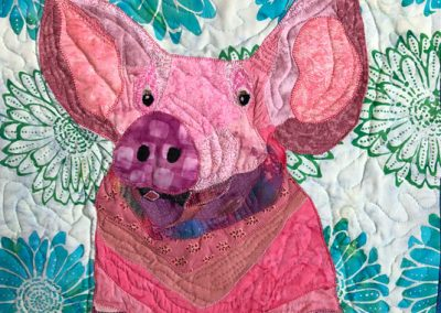 Pig fabric wall hanging