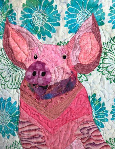 Pig fabric wall hanging