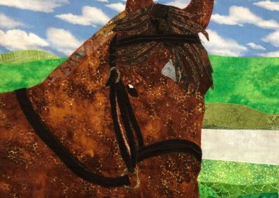 Custom horse fabric wallhanging