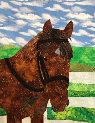 Custom horse fabric wallhanging