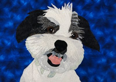 Custom dog fabric wallhanging
