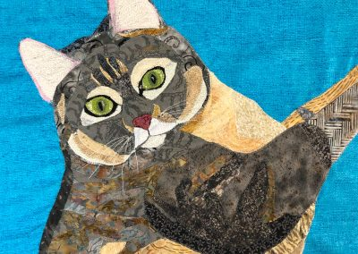 Custom cat fabric wallhanging