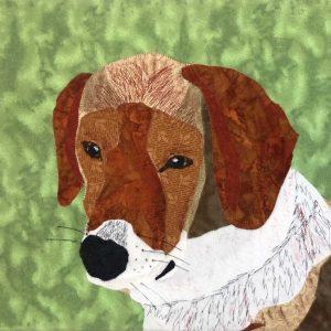 Beagle fabric art wall hanging