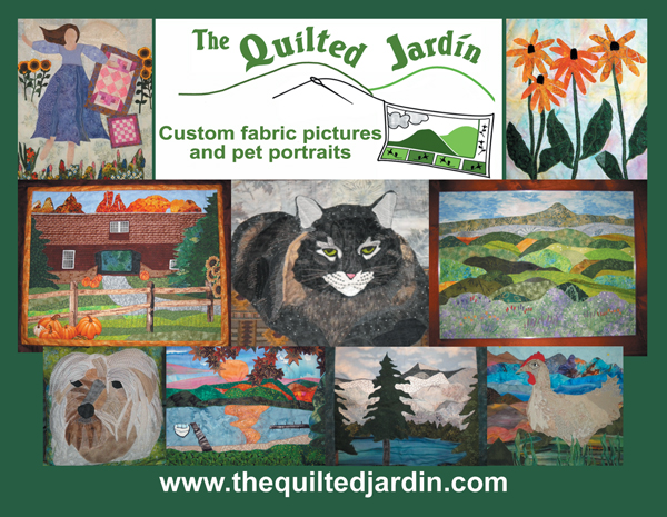 The Quilted Jardin old postcard