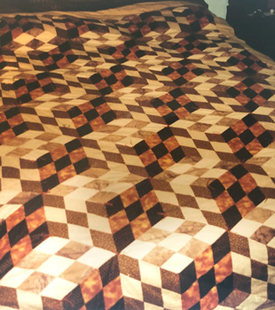 brown diamond quilt