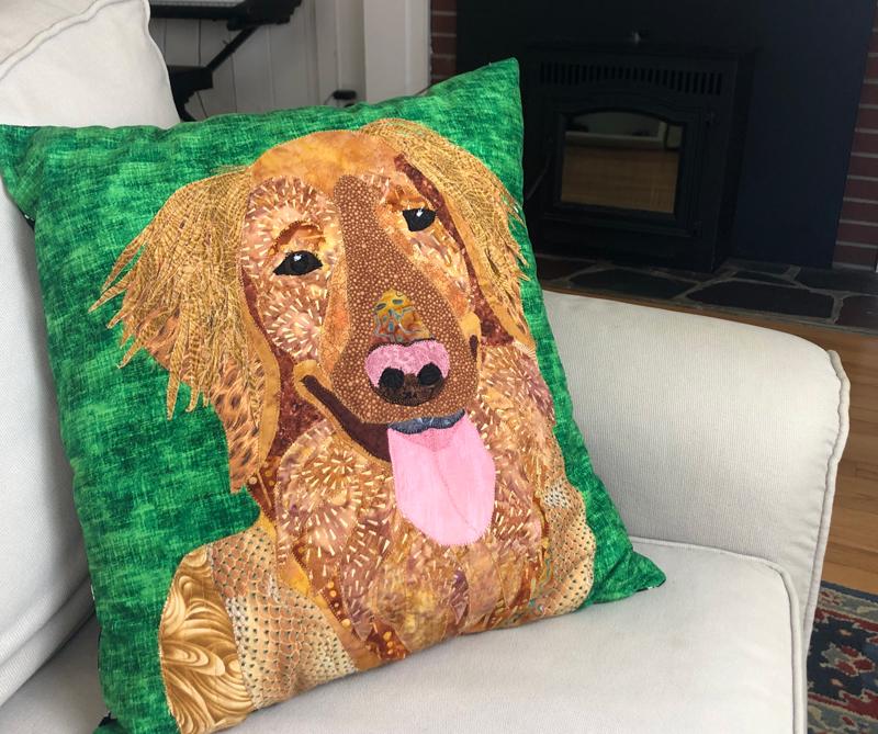 Making a Pet Portrait: Cooper's Memorial Pillow