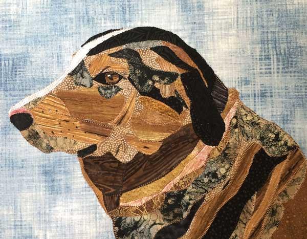 custom pet portrait of Echo dog