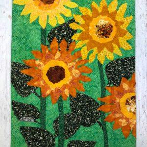 custom sunflower fabric wall hanging gift