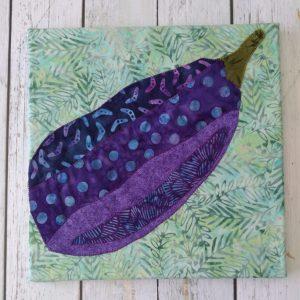 fabric eggplant art on canvas