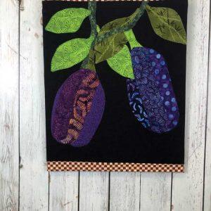 fabric eggplant wall art