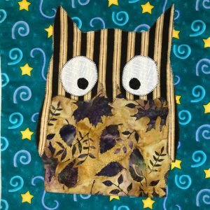 Brown owl fabric picture