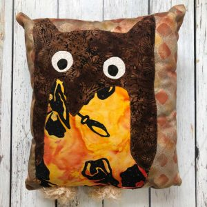 colorful owl pillow